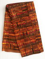 Vintage MCM Moderne Rayon Satin Acetate Fabric Geometric Dress Sewing 4.25 yards