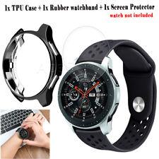 Plating Soft Case Screen Protector Watchband f Samsung Gear S3/Galaxy Watch 46mm
