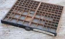 Setzkasten 50x44 cm 30er Jahre Vintage shabby chic Holz Letterpress wooden tray