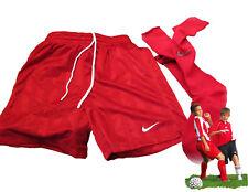 Nuevos Nike Equipo Shorts de fútbol & Calcetines Rojo JUVENTUD infantil XL Edad