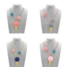 1 Pc Children Necklace Girls Gift Jewelry Pendant Choker Ice Cream Cute Random
