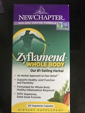 New Chapter Zyflamend Whole Body 120 V-Caps Anti Inflammatory New in Box