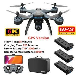 2021 6k WIFI FPV GPS Drones With Camera Ultra HD Foldable Flying RC Quadcopter