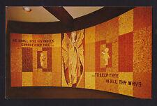 1962 Wood Chip Mosaic Christian Pavilion Seattle Worlds Fair exposition postcard