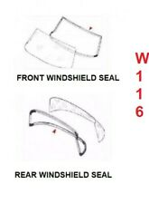 Mercedes Benz W116 FRONT AND REAR Rubber WINDOW WINDSHIELD Seal Set OF 2 PC