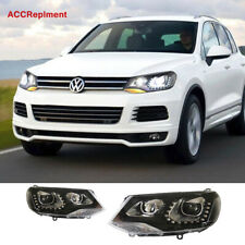 2Pcs For VW Touareg Headlights assembly 2011-2014 Projector 【Halogen Upgrade】