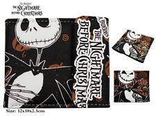 Anime The Nightmare Before Christmas Wallet Purse Bag Holder Layers Button Otaku