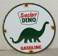 Sinclair Dino Oil Vintage Style Porcelain Sign Gas Pump Plate Man Cave Station