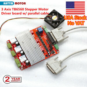 【US Stock】3 Axis TB6560 CNC Controller Stepper Motor Driver Board for CNC Router