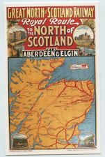 Great North of Scotland Railway Map Poster Postcard Dalkeith unposted