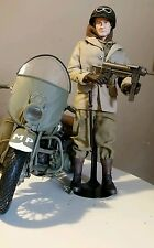 "1/6 SCALE  DRAGON HARLELY-DAVIDSON 12"" MOTORCYCLE & MP WW2"