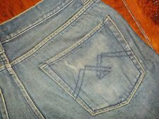 Mens American Rag Jeans Straight Leg Smith Cut distressed faded factory muddy