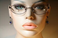 Unworn SPIRIT EYEWEAR 522 Feminine Oval Silver Chrome Eyeglasses Glasses Frames