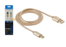 CABLE USB Type-C de Transfert & Recharge 1m Doré pour ARCHOS 55 Graphite