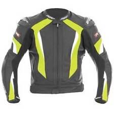 Blousons jaunes en cuir pour motocyclette