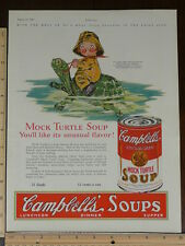 Rare Orig VTG Campbell's Turtle Soups Curtiss Baby Ruth Color Advertising Print