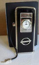 Black petrol pump miniature clock BNWB