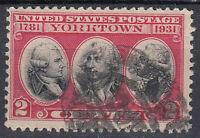 USA Briefmarke gestempelt 2c Yorktown 1781 1931 / 3903