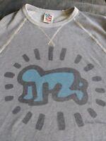 Junk Food Keith Haring Medium Grey Crew Neck Sweatshirt