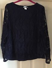 H&M Lace Effect Sweater Top, Size M (12-14) - Lovely!
