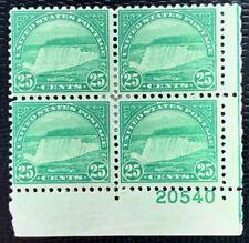 1931 US Stamp SC#699 25c Niagara Falls Regular Issue Plate# Block of 4