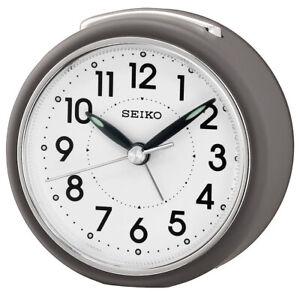 Seiko Alarm Clock With Quiet Output Grey QHE125N