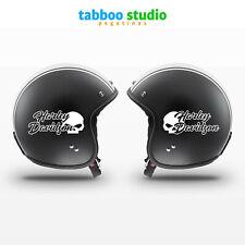 2 Pegatinas Harley Davidson casco tanque calavera stickers moto custom vinilo