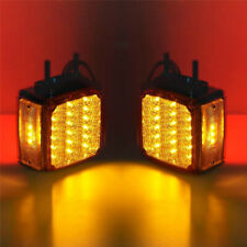2PC 18LED Double Face Stud Mount Pedestal Cab Fender Stop Turn Signal Tail Light