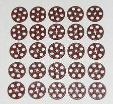 LEGO LOT OF 25 NEW REDDISH BROWN PULLEYS TECHNIC WEDGE BELT WHEEL PARTS