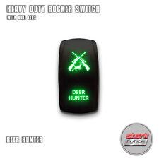 GREEN Laser Etch LED Rocker Switch 5 PIN Dual Light 20A 12V ON OFF - DEER HUNTER