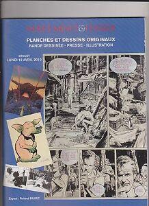 Catalogue Vente aux enchères planches et dessins BD. Drouot 12 avril 2010