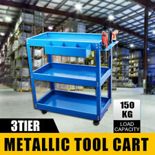 Heavy Duty Industrial Mechanic Tool Cart Trolley 3 Tier Srew Driver Holder 150kg