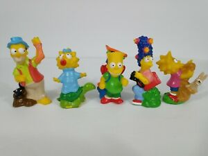 Burger King Kids Club Toys Simpsons Go Camping Complete Set 5 1990 Loose