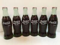 Lot of 6 Coca Cola 1990 Around the World Bottles Russia Soviet Union