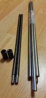 H6 Smooth Rods Shaft 2pcs Trapezoidal Screw Tr10x2 310mm MendelMax 1.5 2x nut 9
