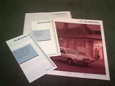 1989 SUBARU JUSTY ESTATE SALOON COUPE XT MV - UK BROCHURE + PRICE & DEALER LISTS
