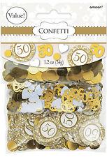 Noces d' OR Confetti de table 50th Anniversaire Décoration de table