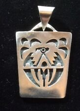 Vintage Sterling Silver Hopi Pendant Made By Jerry Honwytewa.