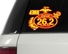43rd Marine Corps Marathon D.C.Finisher Red Yellow color Decal Car