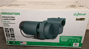 New Zoeller 1332-0006 Irrigation/Lawn Sprinkler Pump Cast Iron 1.5HP 70GPM