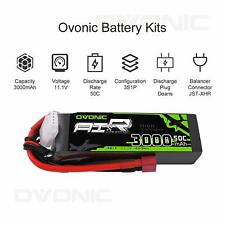 OVONIC 11.1V 3000mAh 50C 3S Lipo Battery Deans Plug for Heli Car Truk FPV drone