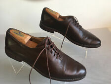 Moma Brown Leather Captoe Lace Up Shoes Men's Size 42 US size 9