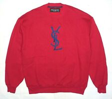 YSL Yves Saint Laurent sweatshirt vintage red blue big logo L