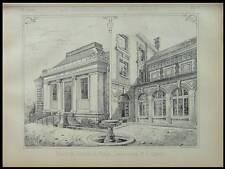 MEAUX, PALAIS DE JUSTICE - 1885 - 2 PLANCHES ARCHITECTURE - CAMUT