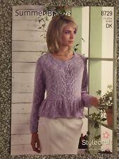 "Stylecraft Summer Breeze DK Knitting Pattern Ladies Cardigan 32""-42"" (2188)"