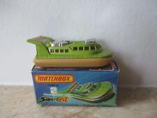 altes MATCHBOX  Superfast Rescue Hovercraft Nr. 2 von 1972 mit orang. Scheiben