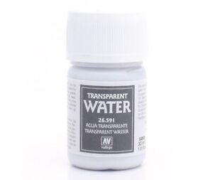 Vallejo Texture Model Color Transparent Water Effetto Acqua Trasparente 26591