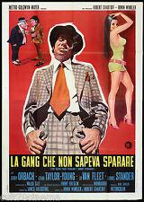 LA GANG CHE NON SAPEVA SPARARE MANIFESTO CINEMA DE NIRO 1971 MOVIE POSTER 4F