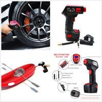 DC12V EU Plug Rechargeable Handheld Car Motorcycle Emergency Tire Inflator Pump