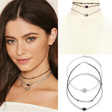 Vintage Hipster Charm Jewelry Choker Chunky Statement Bib Pendant Chain Necklace